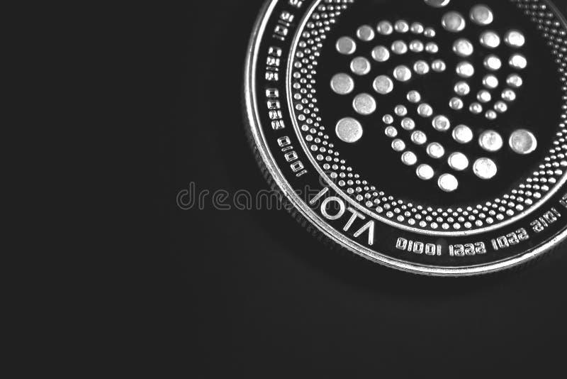 Cryptocurrency da moeda do Iota imagem de stock royalty free