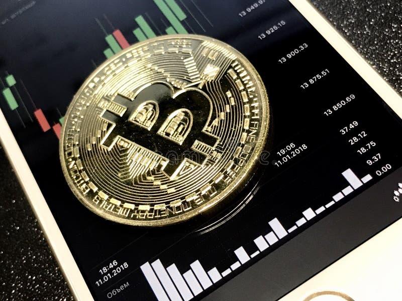 Cryptocurrency de Bitcoin photographie stock libre de droits