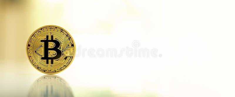 Cryptocurrency de bitcoin d'or photos libres de droits