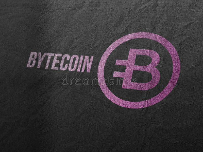 Cryptocurrency de Bytecoins et concept encaissant moderne illustration de vecteur