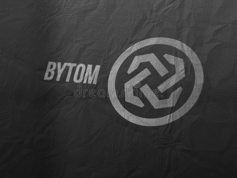 Cryptocurrency de Bytom y concepto bancario moderno stock de ilustración