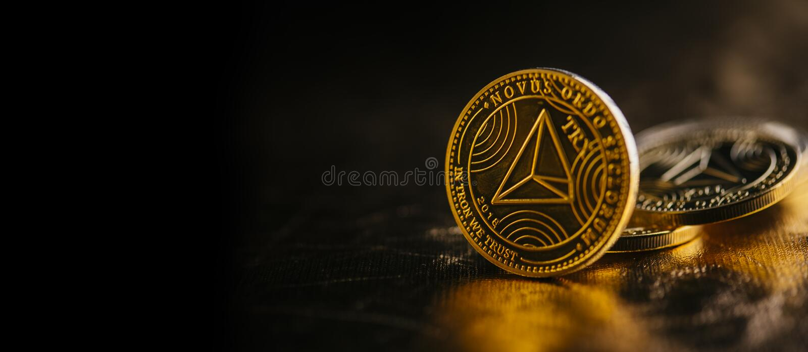 Cryptocurrency de Tron photographie stock