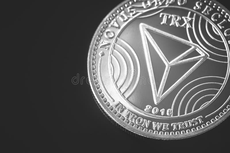 Cryptocurrency de Tron imagem de stock
