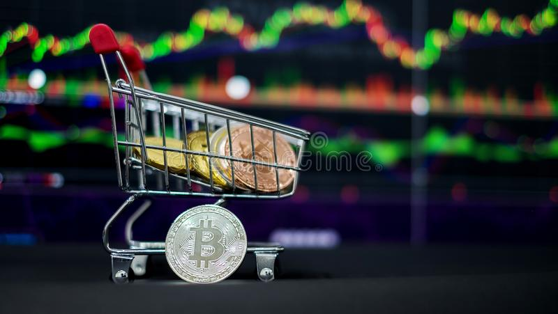 Cryptocurrency; the digital currency royalty free stock photo