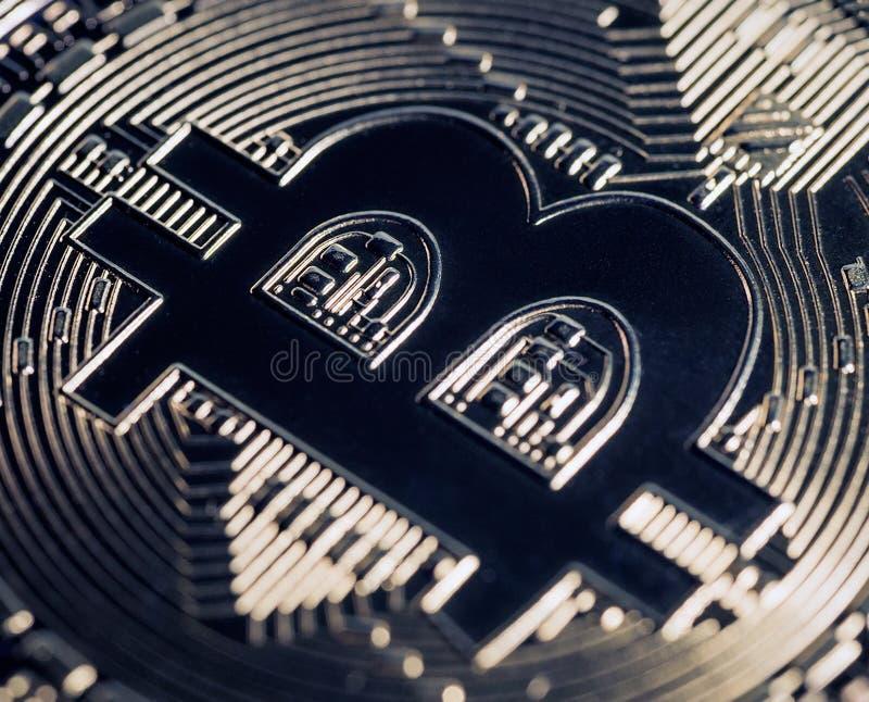 Cryptocurrency digital de Bitcoin fotografia de stock