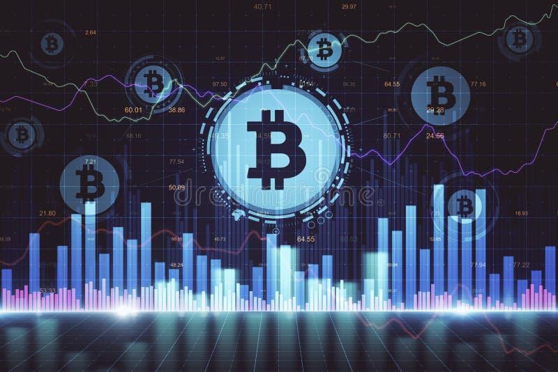 Cryptocurrency e conceito de com?rcio ilustração royalty free