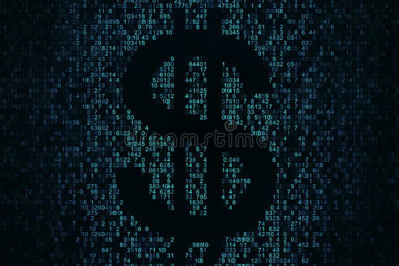 Cryptocurrency e conceito do dinheiro ilustração royalty free