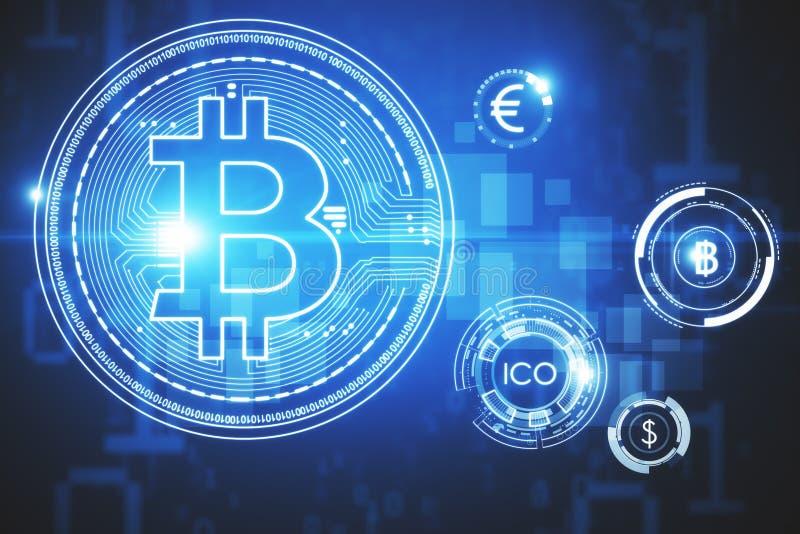 Cryptocurrency e conceito do pagamento ilustração royalty free