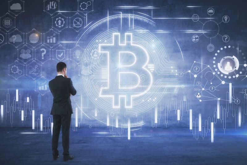 Cryptocurrency e concetto di pagamento immagine stock
