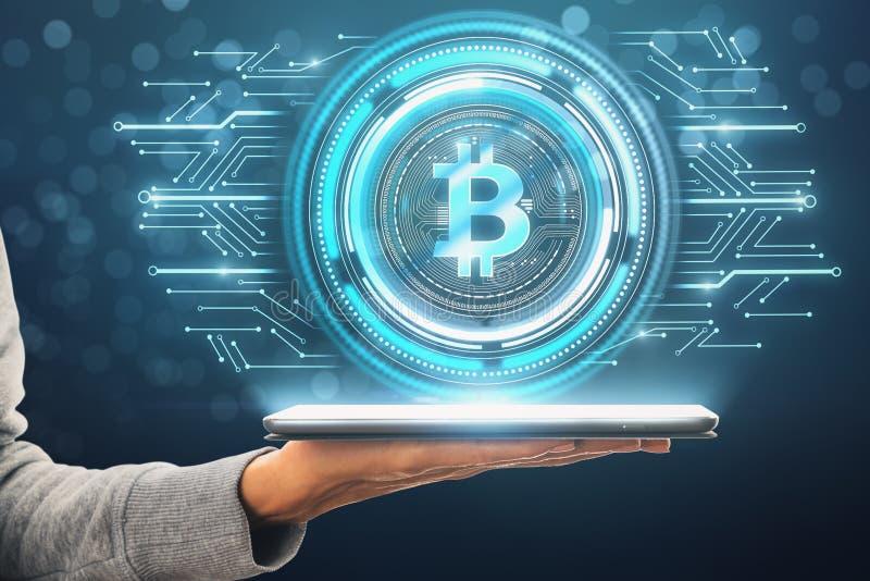 Cryptocurrency e concetto di pagamento fotografia stock