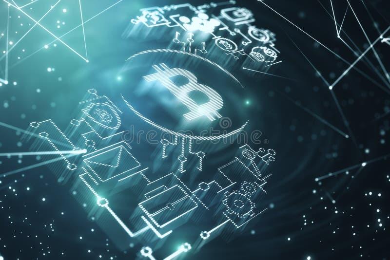 Cryptocurrency e papel de parede da finança ilustração stock