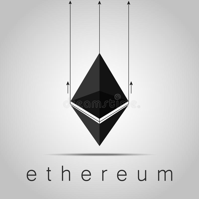 Cryptocurrency Ethereum din vektor för bruk för designillustrationmateriel fotografering för bildbyråer