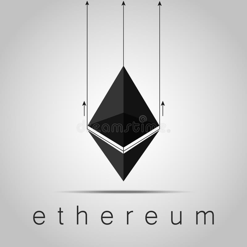 Cryptocurrency Ethereum Ilustración común del vector imagen de archivo