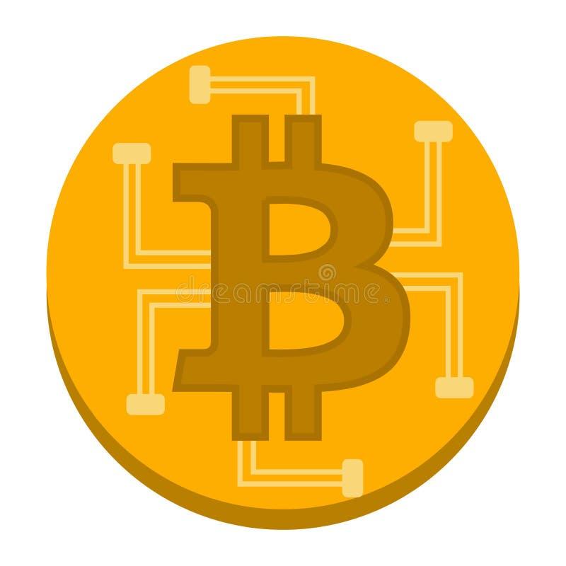 Cryptocurrency för begrepp för Bitcoin vektorillustration arkivbild
