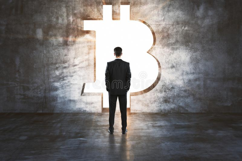 Cryptocurrency and finance concept royalty free stock photography