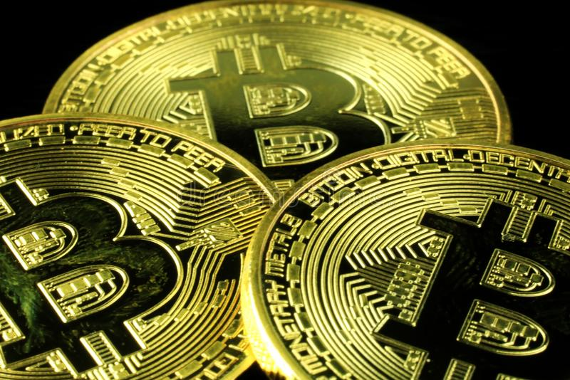 Cryptocurrency futuro di Bitcoin immagini stock