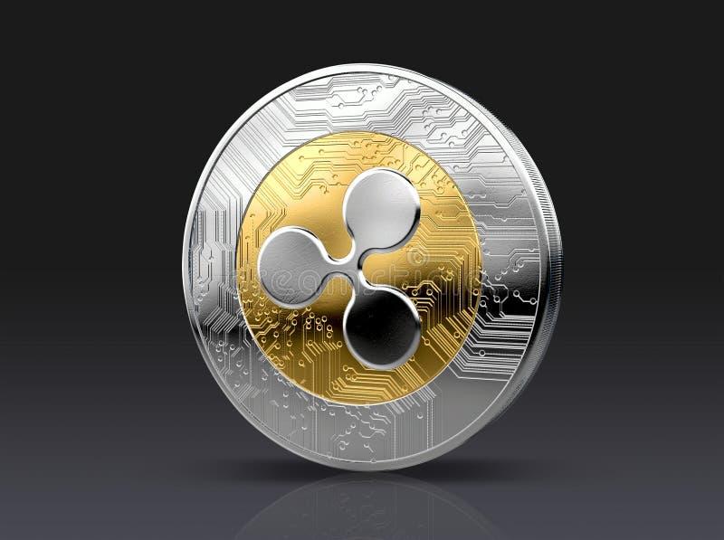 Cryptocurrency fysiskt mynt stock illustrationer