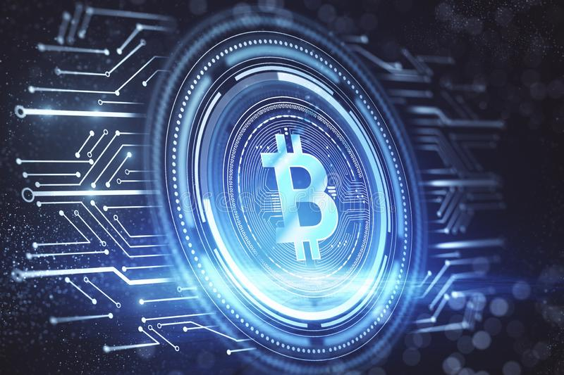 Cryptocurrency and hardware concept royalty free stock images