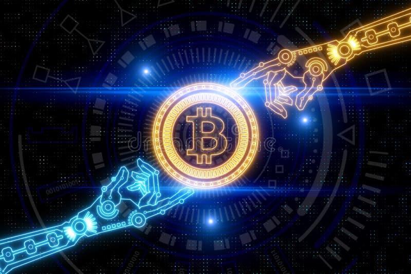 Cryptocurrency i handlowy pojęcie royalty ilustracja