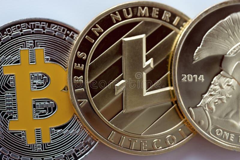 Cryptocurrency jest cyfrowym wartością projektującym pracować jako środek zdjęcie stock