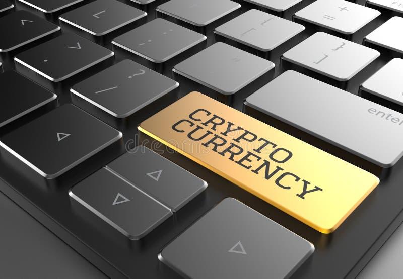 Download Cryptocurrency-Knopf Auf Schwarzer Moderner Tastatur Veranschaulichung 3D Stock Abbildung - Illustration von investition, darstellen: 106804163