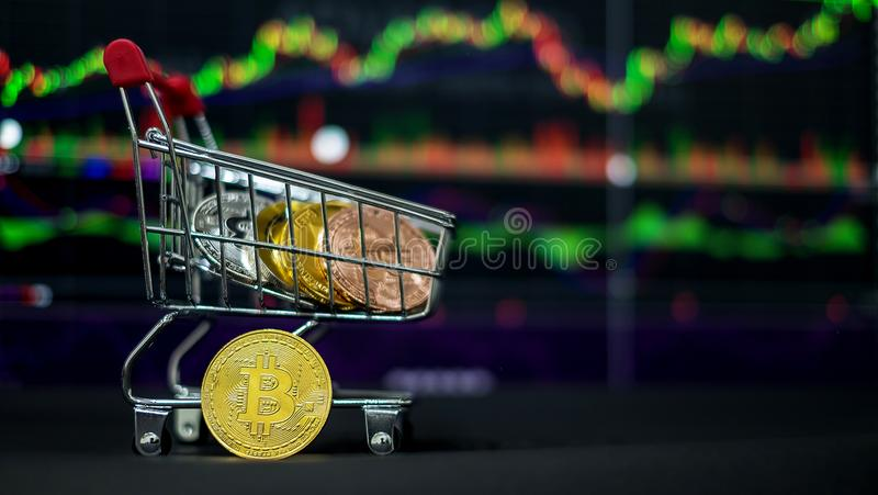 Cryptocurrency; la moneda digital fotografía de archivo libre de regalías