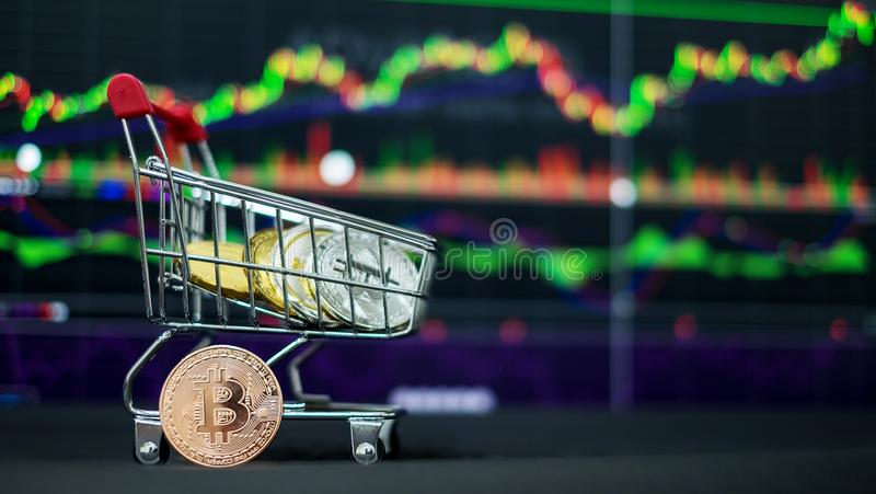 Cryptocurrency; la moneda digital imágenes de archivo libres de regalías