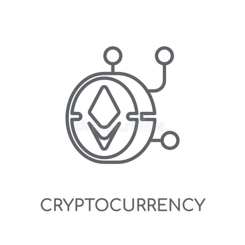 Cryptocurrency lineair pictogram Het moderne embleem c van overzichtscryptocurrency royalty-vrije illustratie