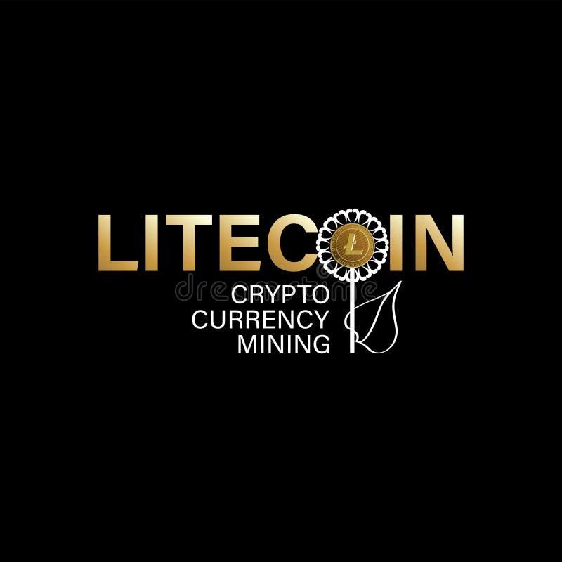 Cryptocurrency litecoin kolonel ilustracji