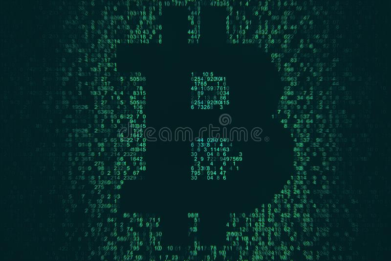 Cryptocurrency and money concept vector illustration