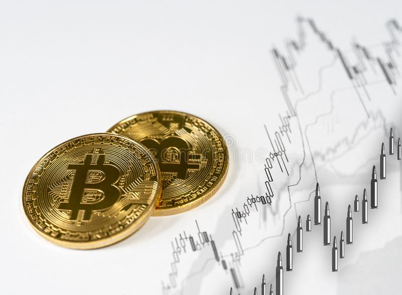 Cryptocurrency numérique de Bitcoin photo stock