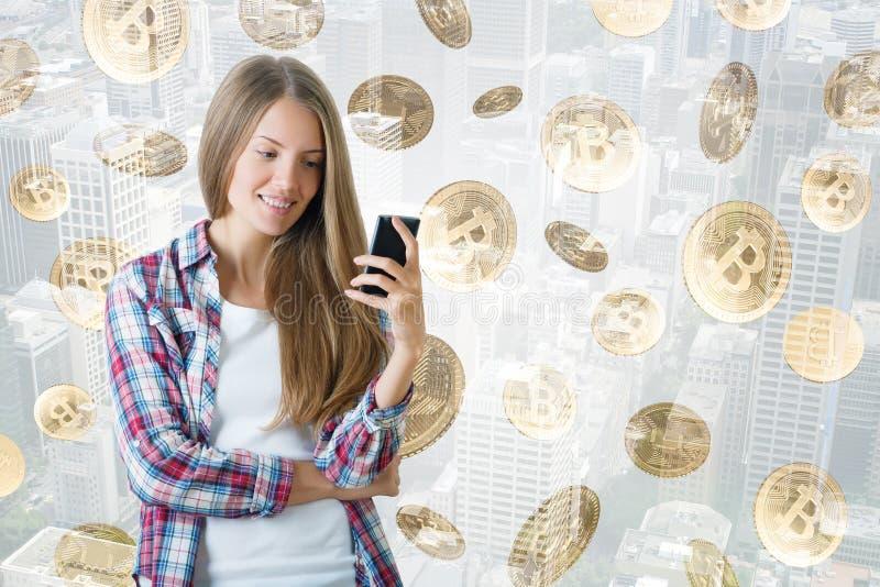 Cryptocurrency och betalningbegrepp royaltyfri fotografi