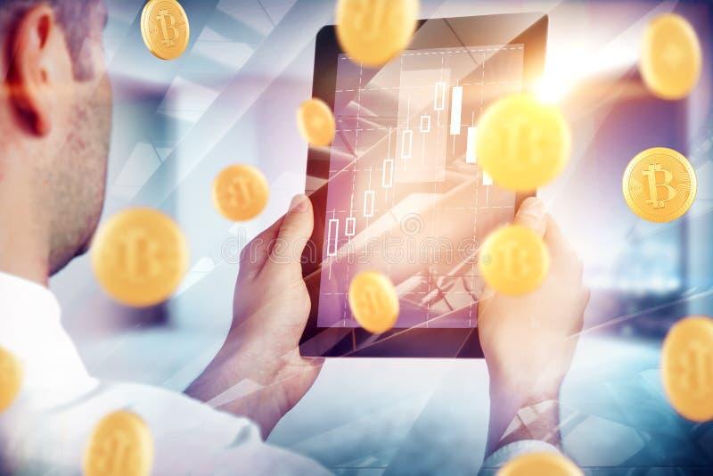 Cryptocurrency och betalningbegrepp royaltyfria bilder