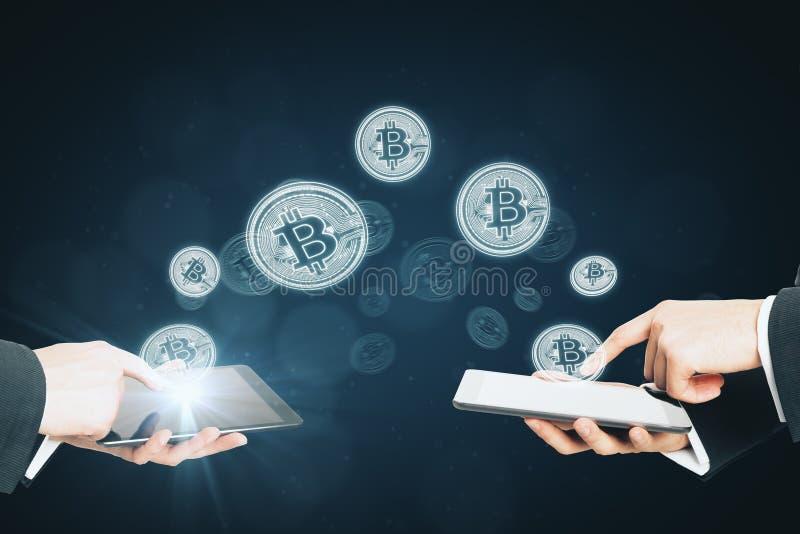 Cryptocurrency och betalningbegrepp arkivbilder