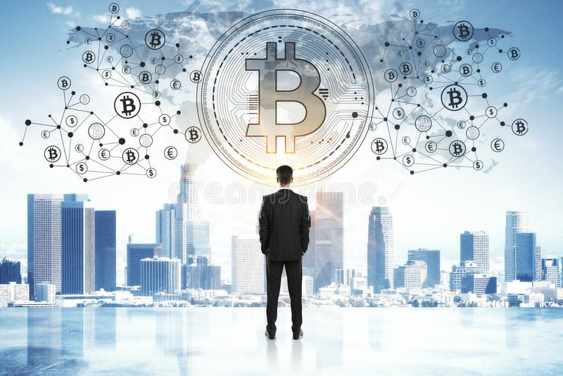 Cryptocurrency och betalningbegrepp arkivfoton