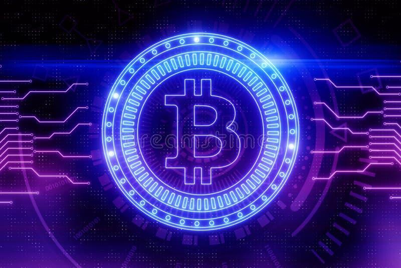 Cryptocurrency och betalningbegrepp stock illustrationer