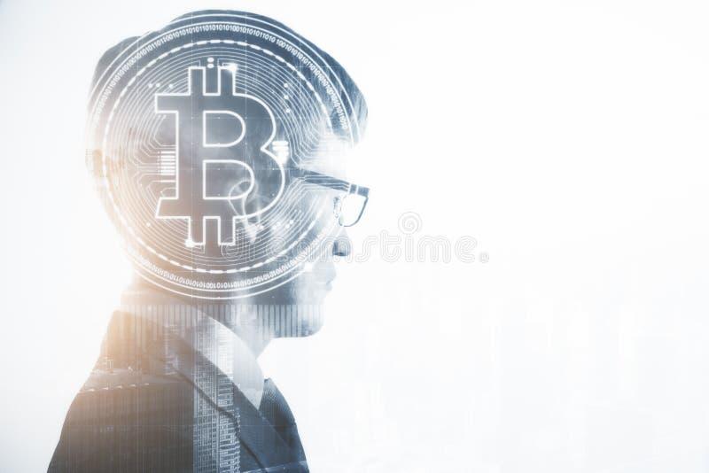 Cryptocurrency och handelbegrepp royaltyfria bilder