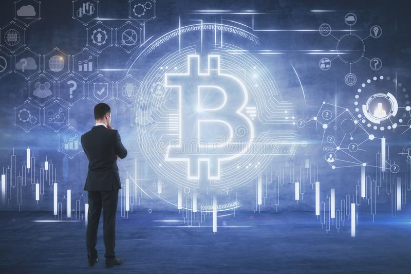 Cryptocurrency and payment concept stock image
