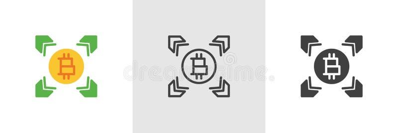 Cryptocurrency pengar som bryter symbolen royaltyfri illustrationer