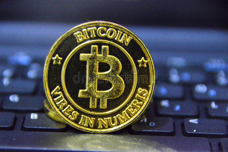 Bitcoin Crytocurrency royalty free stock image