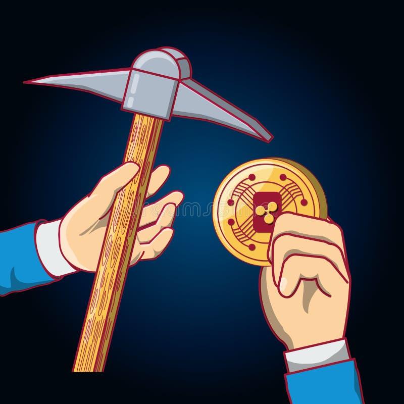 Cryptocurrency pojęcia projekt ilustracja wektor