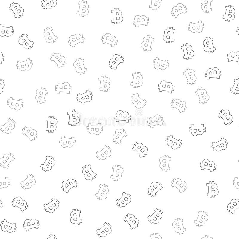 Cryptocurrency seamless pattern. Crypto currency background. vector illustration