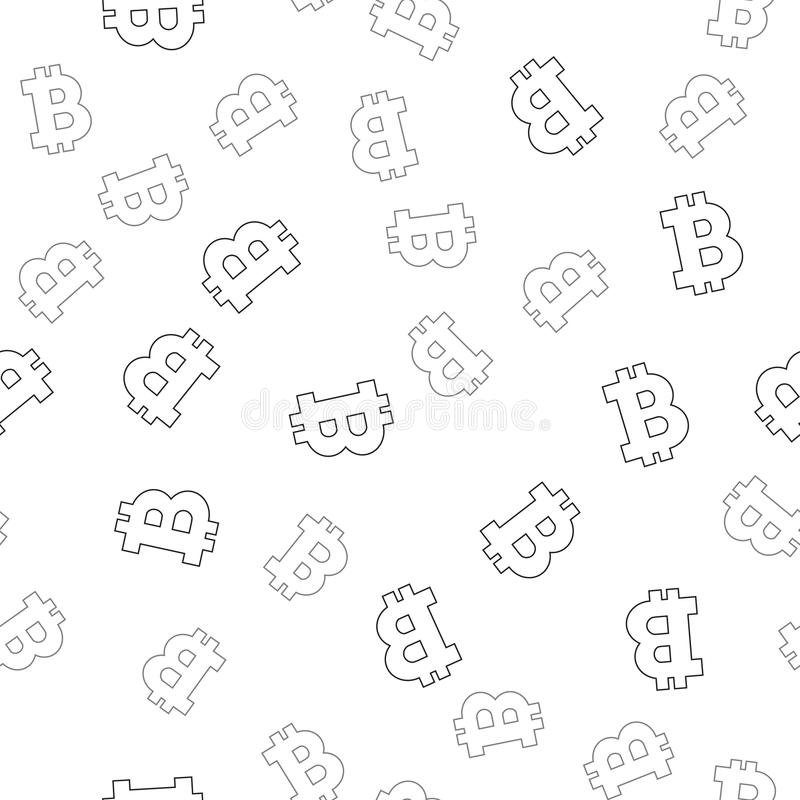 Cryptocurrency seamless pattern. Crypto currency background. royalty free illustration