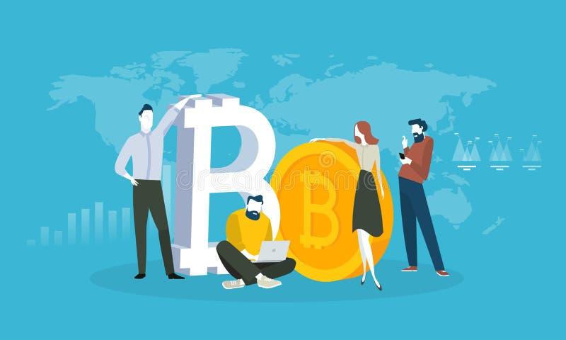Cryptocurrency targowa analiza ilustracji