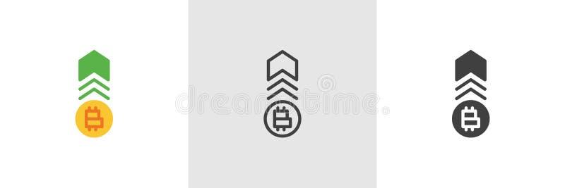 Cryptocurrency tempa przyrosta ikona royalty ilustracja