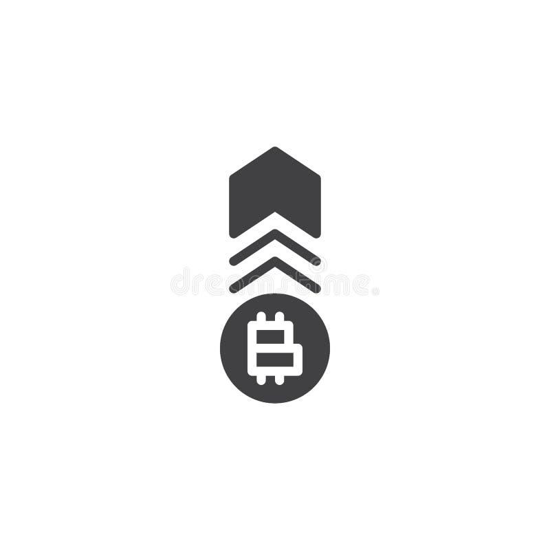 Cryptocurrency tempa przyrosta wektoru ikona ilustracji