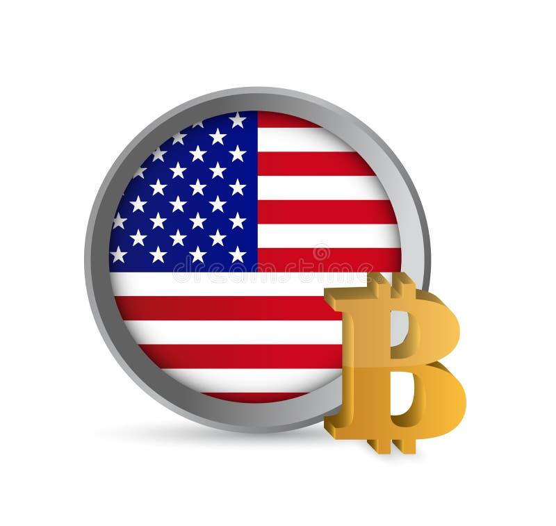 Cryptocurrency und Bankwesenkonzeptleutenetz vektor abbildung