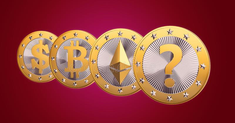 Cryptocurrency - was ist die folgende GROSSE Sache? stockfotografie