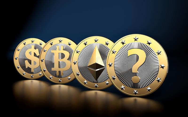 Cryptocurrency - What is the next BIG thing? - 3D Rendering vector illustration
