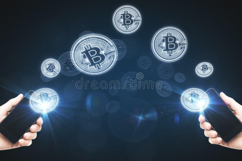 Cryptocurrency y concepto comercial imagen de archivo